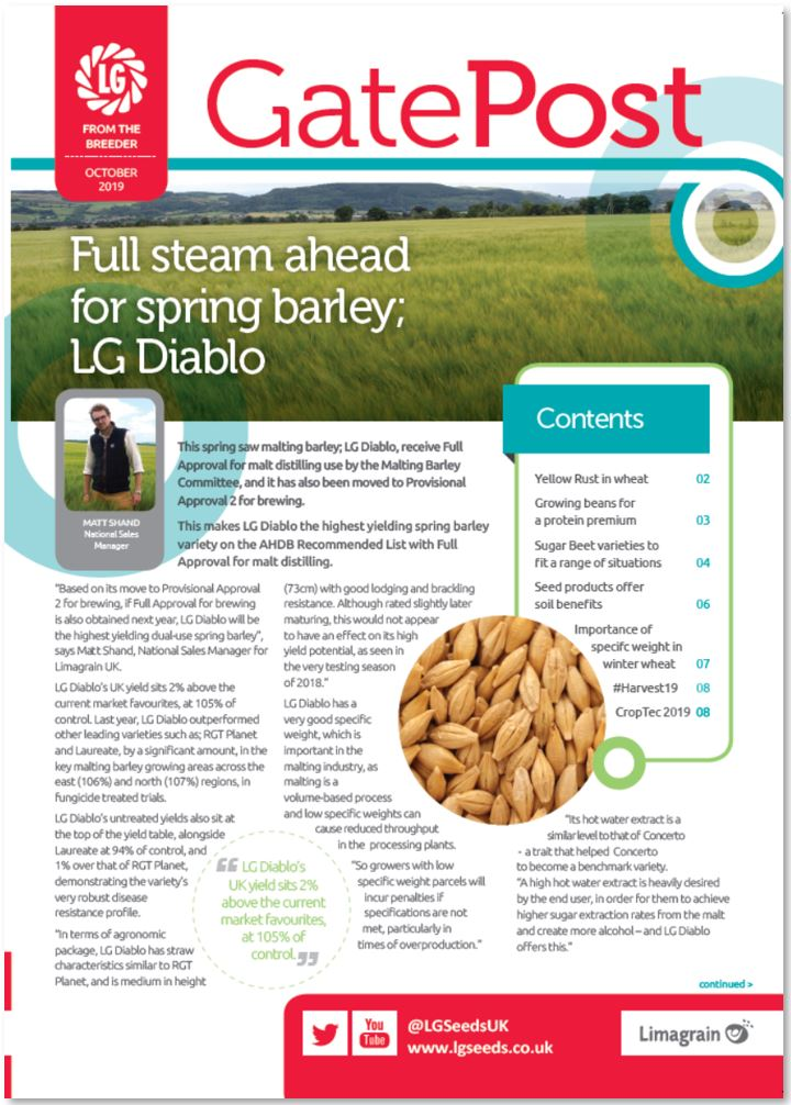 LG Gatepost - Arable technical newsletter - October 2019 edition